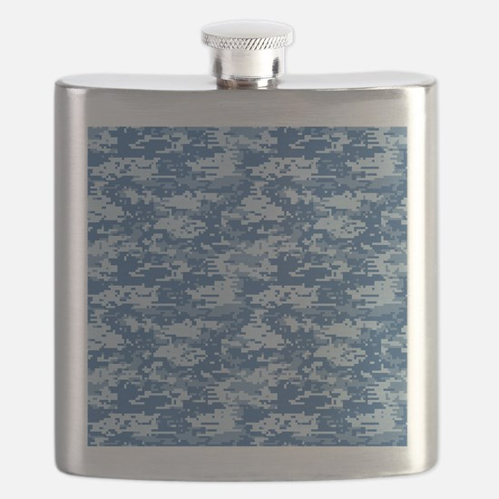 CAMO DIGITAL NAVY Flask