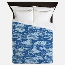 CAMO DIGITAL NAVY Queen Duvet