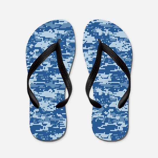 CAMO DIGITAL NAVY Flip Flops