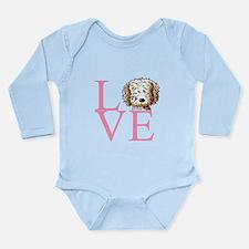 KiniArt Doodle Love Long Sleeve Infant Bodysuit