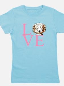KiniArt Doodle Love Girl's Tee