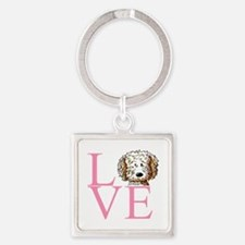 KiniArt Doodle Love Square Keychain