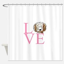 KiniArt Doodle Love Shower Curtain