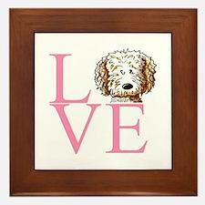 KiniArt Doodle Love Framed Tile
