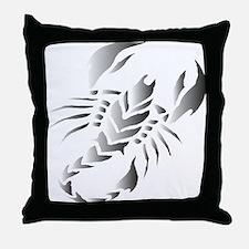 Tribal scorpion tattoo Throw Pillow