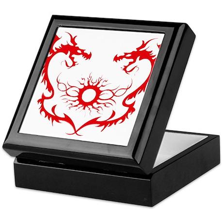 Twin Dragons Soul Battle Keepsake Box By Angelscustomgiftshop