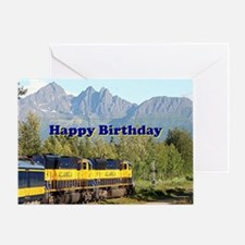 Unique Alaska railroad Greeting Card