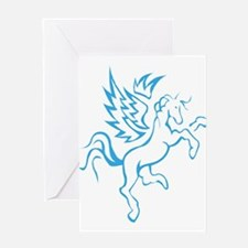 winged horse pegasus Greeting Cards