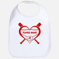 Personalized Baseball Player Heart Bib