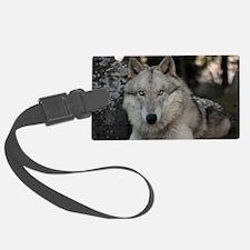 White wolf Luggage Tag
