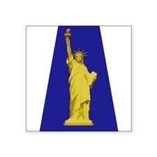 "Cute Statue of liberty statue Square Sticker 3"" x 3"""