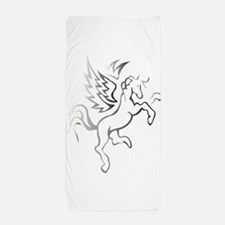 winged horse pegasus Beach Towel