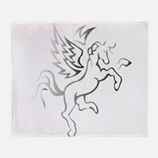winged horse pegasus Throw Blanket