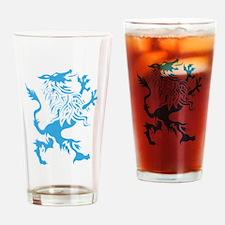 Werewolf spirit drawing Drinking Glass