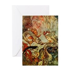 Dulac Mer-King Greeting Card