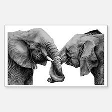 Unique Elephant Sticker (Rectangle)