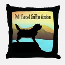 Petit Basset By The Sea Throw Pillow