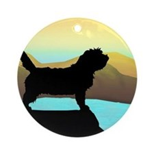 Petit Basset By The Sea Ornament (Round)