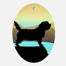 Petit Basset By The Sea Oval Ornament