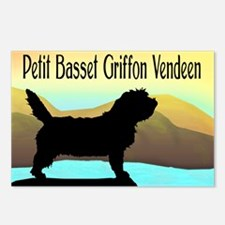 Petit Basset By The Sea Postcards (Package of 8)