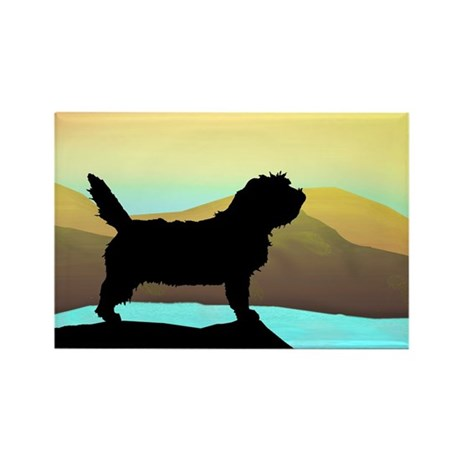 Petit Basset By The Sea Rectangle Magnet