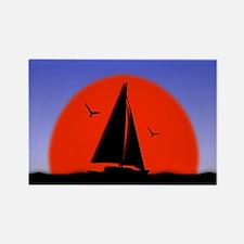 Sailboat at Sunset Magnets