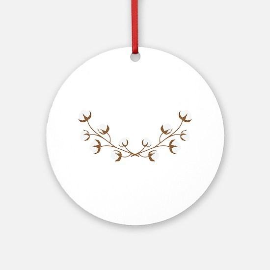 Cotton Branches Round Ornament