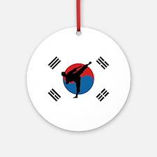 Taekwondo Flag Round Ornament