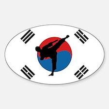 Taekwondo Flag Decal