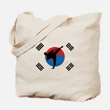 Taekwondo Flag Tote Bag