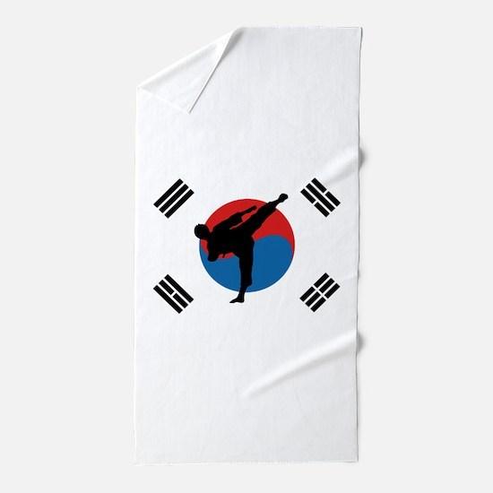 Taekwondo Flag Beach Towel