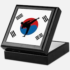 Taekwondo Flag Keepsake Box