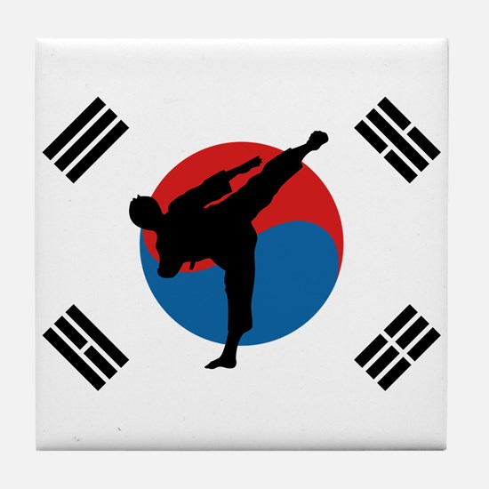 Taekwondo Flag Tile Coaster
