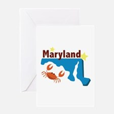 State Of Maryland Greeting Cards