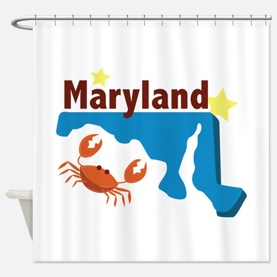 State Of Maryland Shower Curtain
