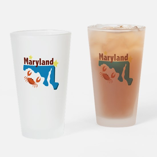State Of Maryland Drinking Glass