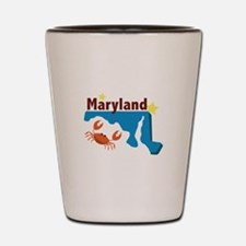 State Of Maryland Shot Glass