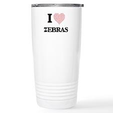 I love Zebras (Heart Ma Travel Mug