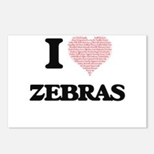 I love Zebras (Heart Made Postcards (Package of 8)