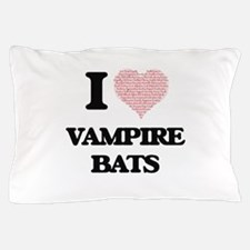I love Vampire Bats (Heart Made from W Pillow Case