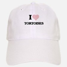 I love Tortoises (Heart Made from Words) Baseball Baseball Cap