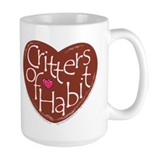"""Critters of Habit"" Heart Mug"