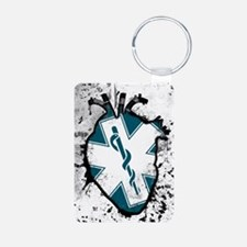 star of life anatomical heart Keychains