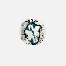 star of life anatomical heart Mini Button (10 pack