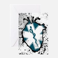 star of life anatomical heart Greeting Cards
