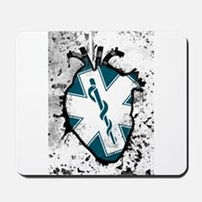 star of life anatomical heart Mousepad