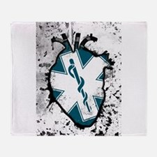 star of life anatomical heart Throw Blanket