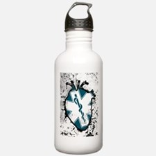 star of life anatomical heart Water Bottle
