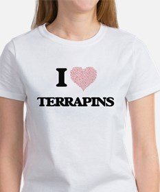 I love Terrapins (Heart Made from Words) T-Shirt