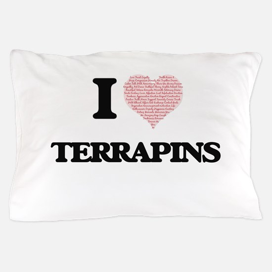 I love Terrapins (Heart Made from Word Pillow Case